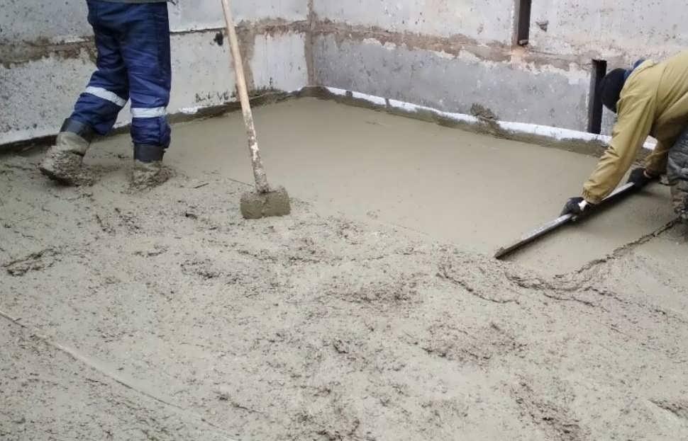 Стяжка из бетона