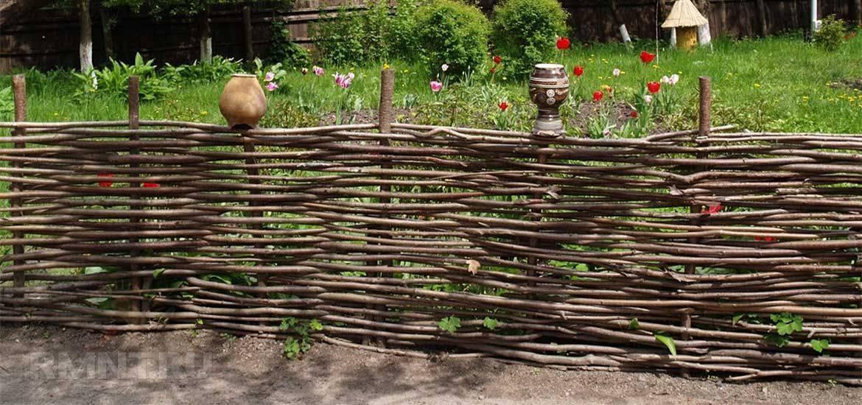 Как сделать плетеный забор своими руками из прутьев, веток, ивы