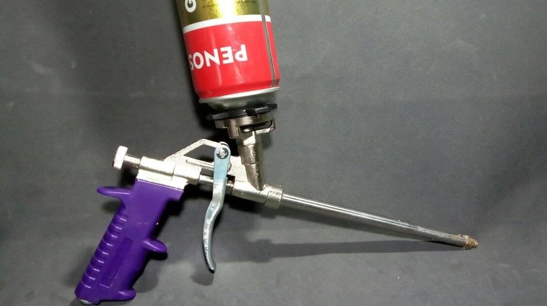 Как очистить пистолет от застывшей монтажной пены самому