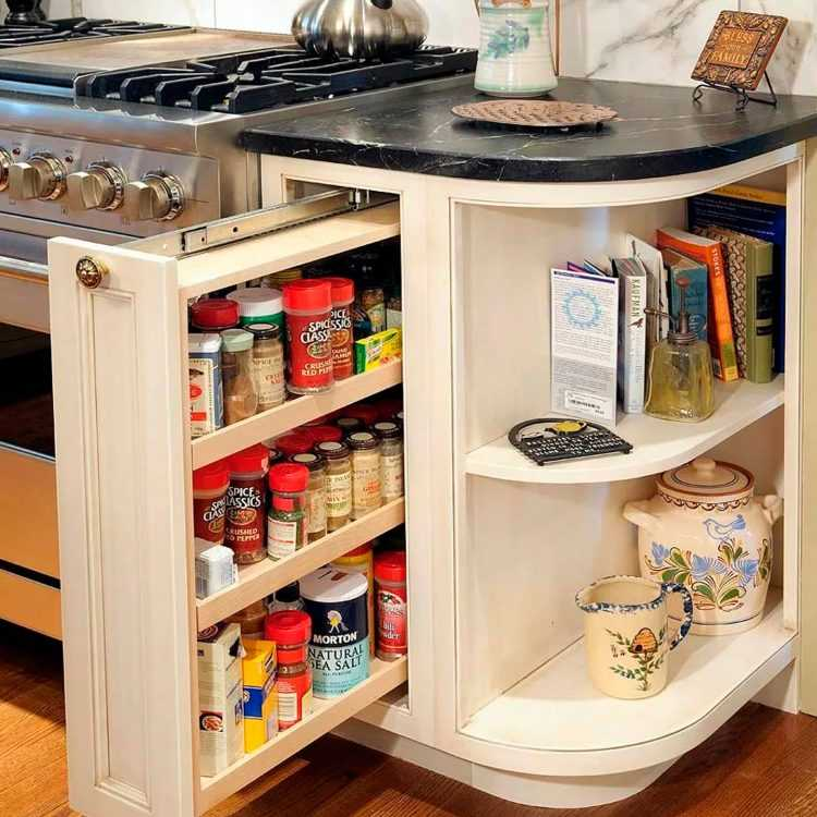 15 идей для экономии места в маленькой кухне