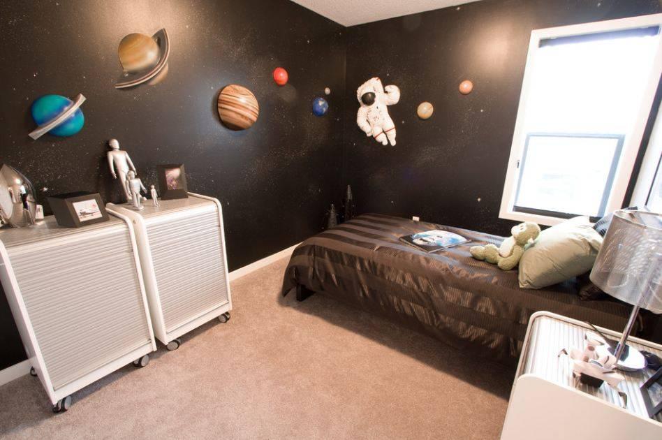 Детские комнаты с космическими интерьерами.