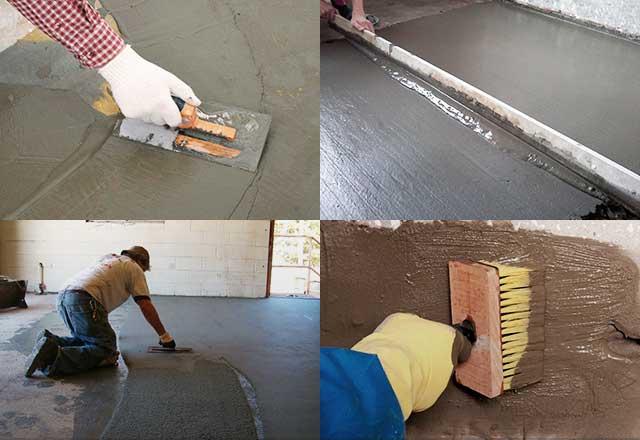 Технология железнения бетона цементом