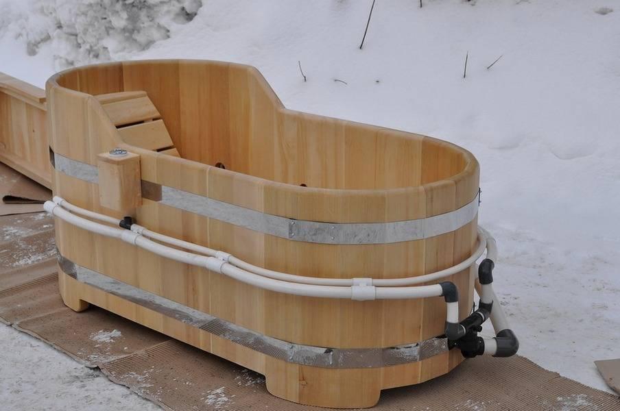 Как сделать купель для бани своими руками из бетона и дерева