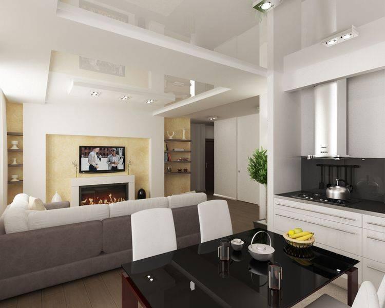 Кухня гостиная - 150 фото идей, как грамотно совместить 2 интерьера