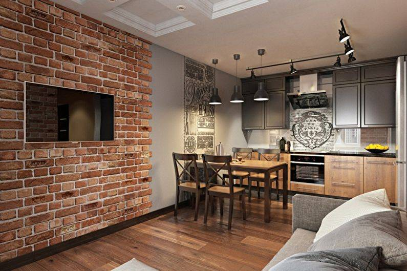 Стены лофт: отделка своими руками стен в квартире в стиле лофт под бетон или кирпич, панели для оформления и выбор цвета для гостиной, кухни, спальни