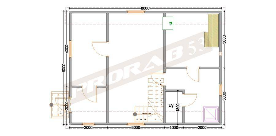 Проект бани 6х6 из бруса с мансардой, из бревна со 2 этажом, планировки, фото