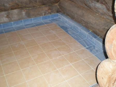 Пол из плитки в бане: как выбрать и инструкция по укладке