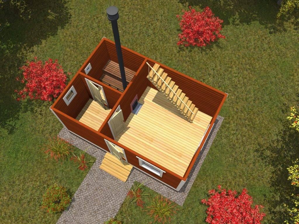 Баня 6 на 6 из бруса с мансардой: проекты, особенности постройки и фото