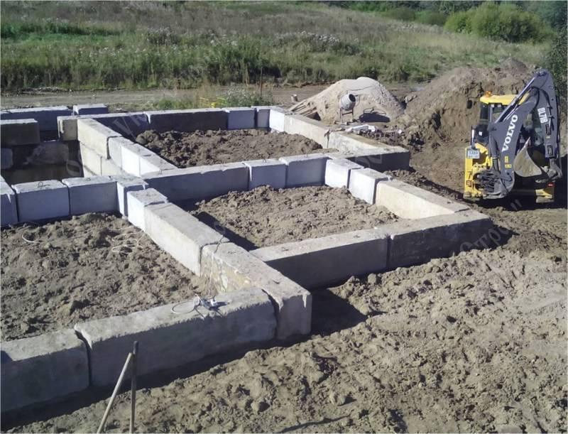 Фундамент под баню из блоков - строим баню или сауну