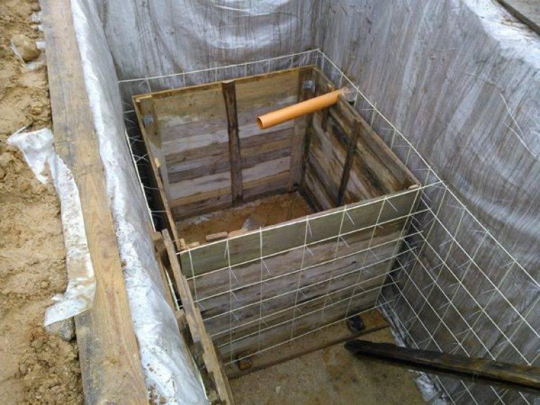Как сделать выгребную яму своими руками для частного дома из кирпича, бетона или автопокрышек