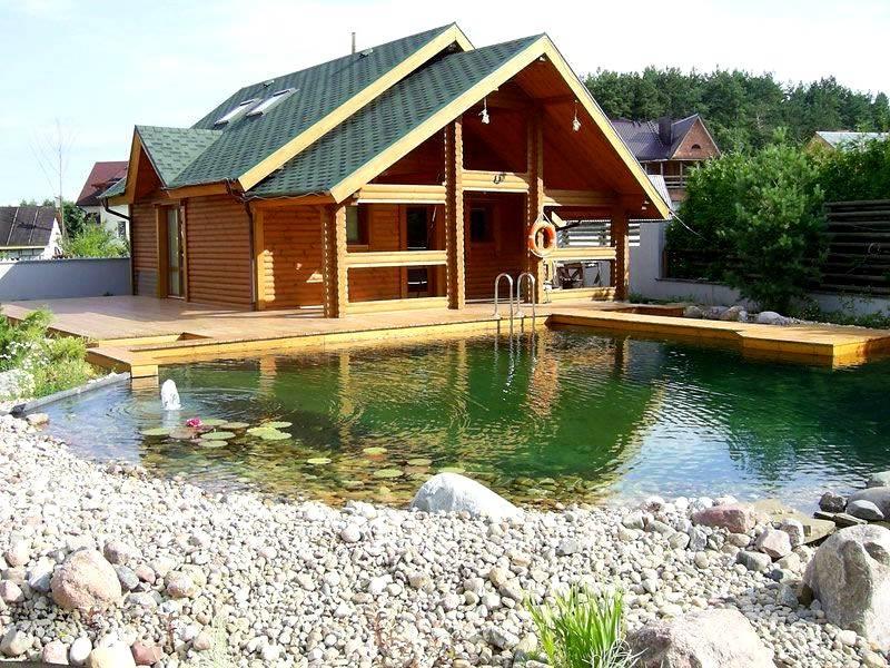 Баня с бассейном под одной крышей, проект банного комплекса, сауна с комнатой отдыха на улице, строительство пристроенной бани