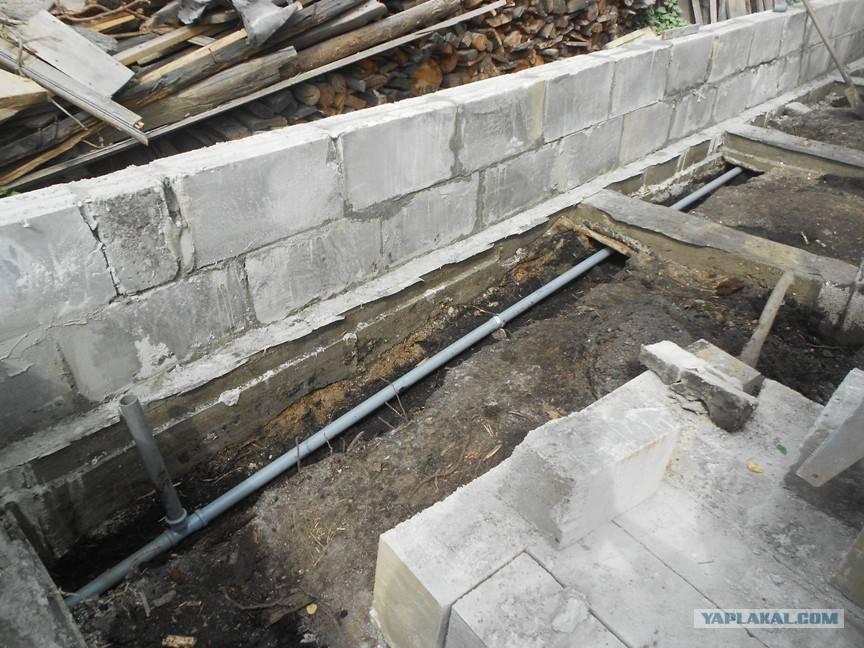 Баня из керамзитобетонных блоков спустя 10 лет