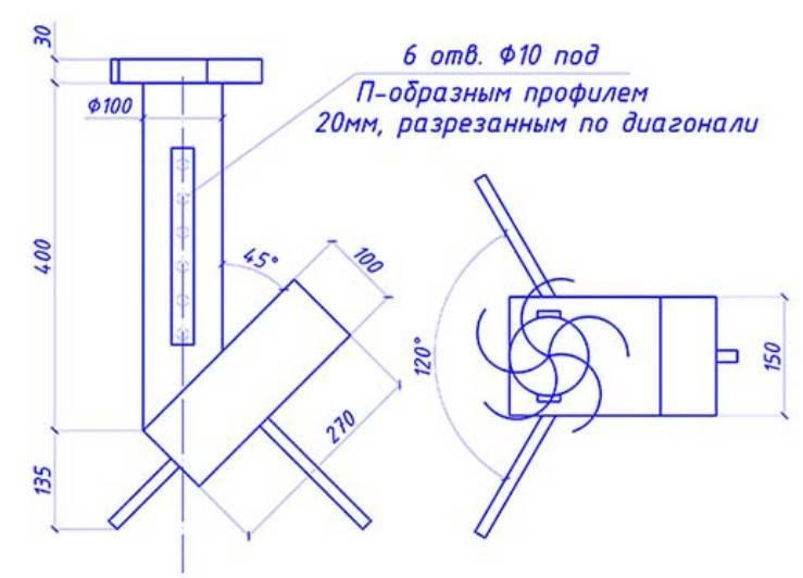Печь ракета из кирпича длительного горения своими руками: чертеж, инструкция, фото