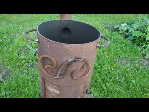 Печь для казана из трубы своими руками, материалы для изготовления