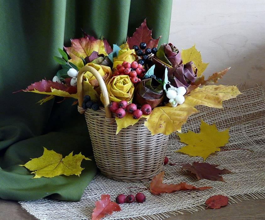 Красивый букет из листьев своими руками: как сделать