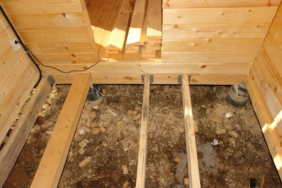 Устройство деревянного пола на лагах - схемы + инструкции!