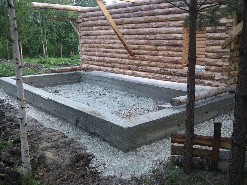 Ремонт фундамента бани своими руками - столбчатого и ленточного