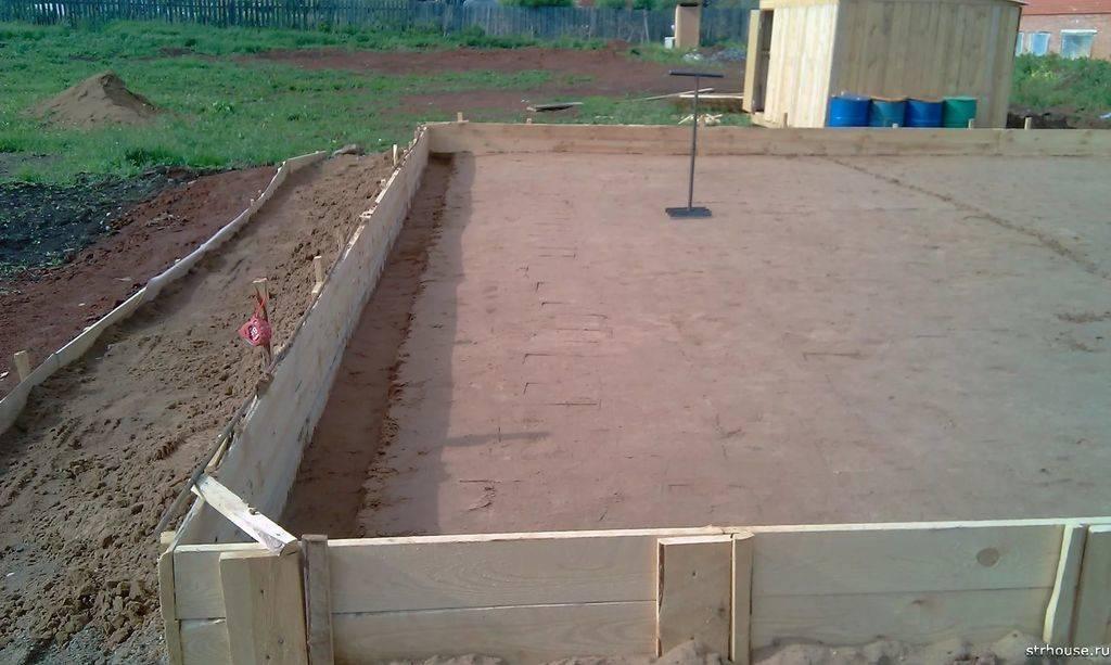 Устройство фундамента на песчаной почве