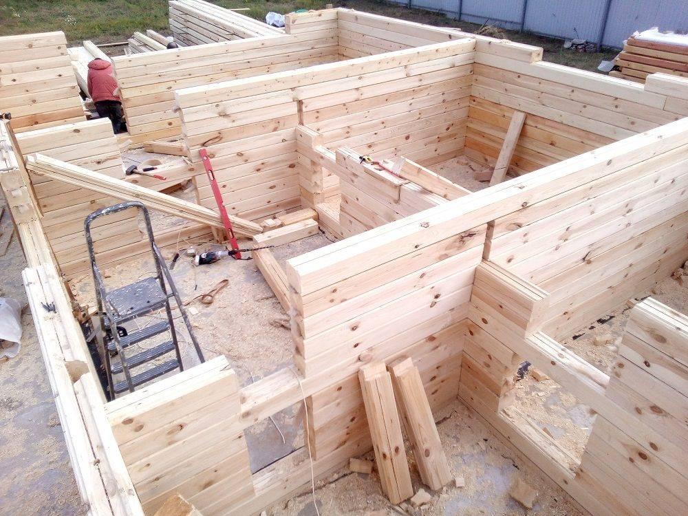 Строительство бани из клееного бруса своими руками
