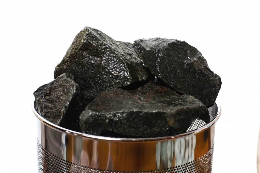 Камень габбро-диабаз для бани: дешевле — не значит хуже