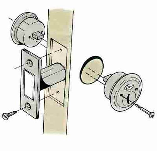 Как врезать замок в межкомнатную дверь своими руками