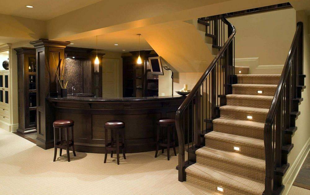 Дизайн подвала в частном доме — 75 фото обустройства цокольного этажа