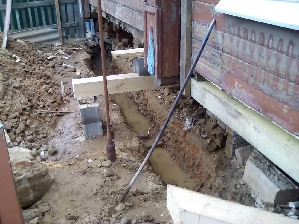 Как производится ремонт столбчатого фундамента?