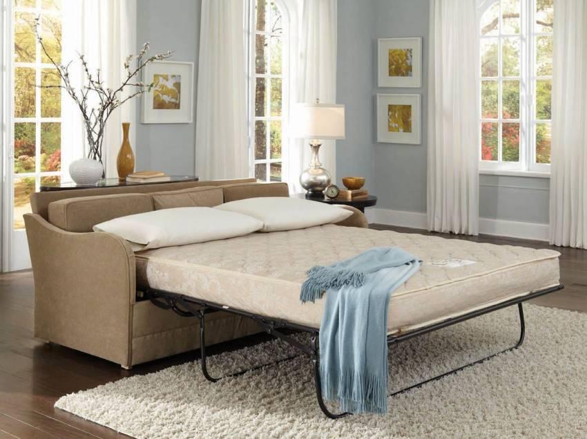 Диван в спальню: виды, правила выбора, фото в интерьере