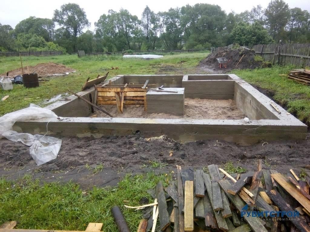 Выбираем какой фундамент лучше для бани из сруба или бруса. как не ошибиться с выбором, как приспособиться к особенностям грунта?