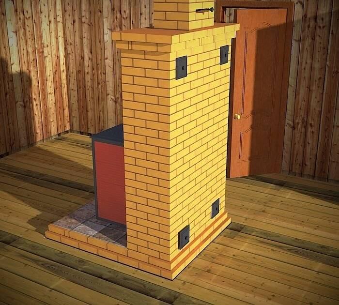 Отопительный щиток из кирпича: порядовка, кладка - какой высоты делать и как сложить