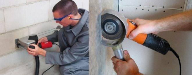 Как штробить стены под проводку без пыли: способы штробления своими руками и глубина штроб