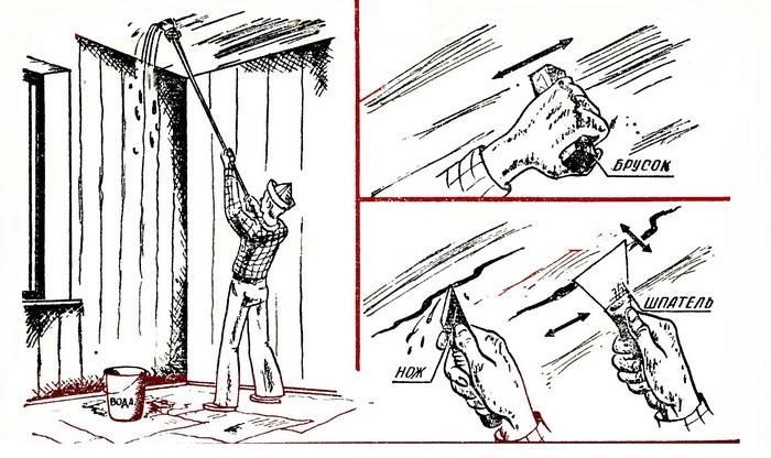 Как быстро и легко снять старые обои со стен - строительство и ремонт