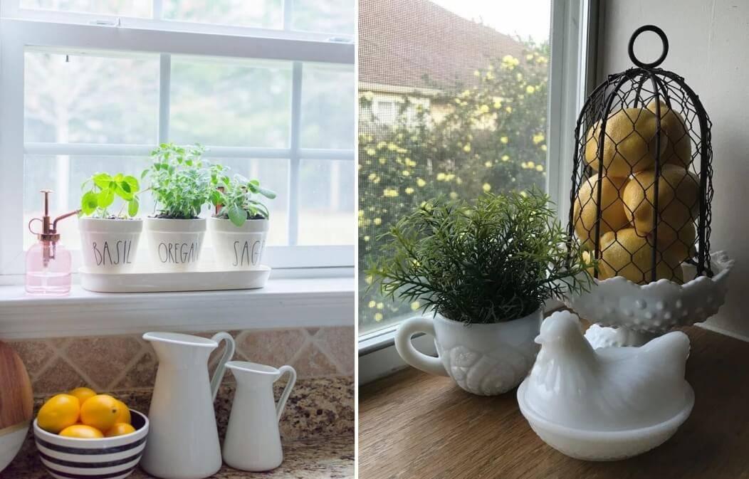 Подоконник в гостиной: как украсить, что разместить (50 фото)