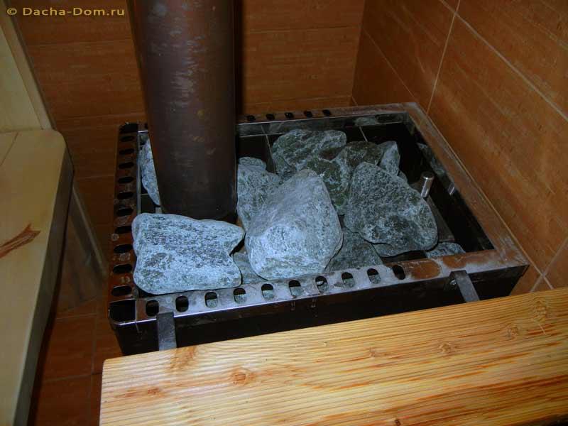 Как укладывать камни в банную печь везувий