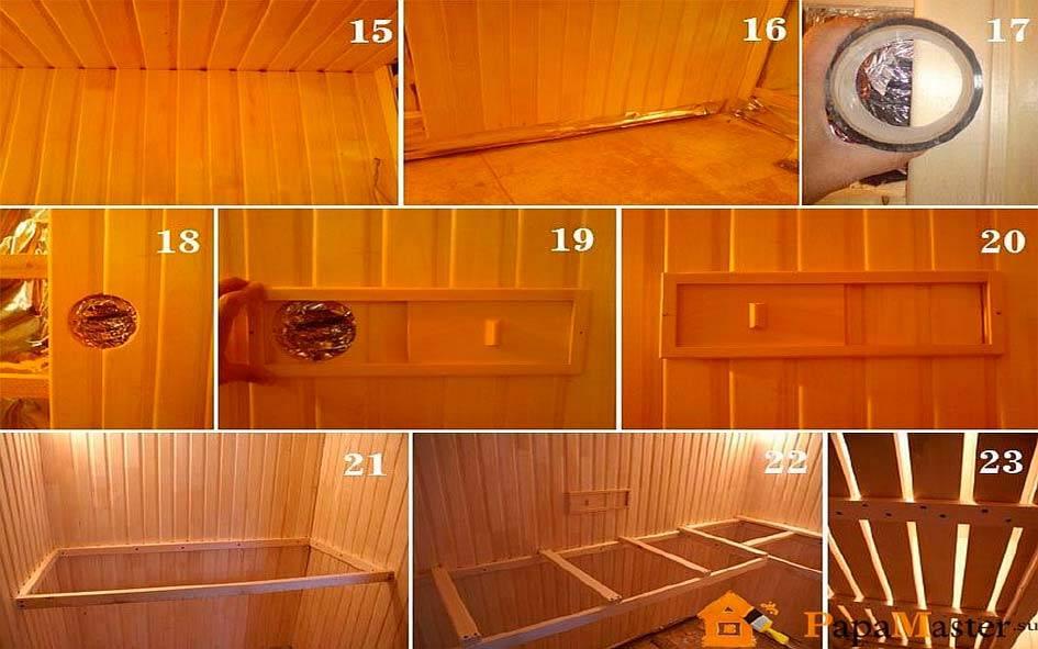 Парилка (78 фото): как правильно сделать парную в бане своими руками, размеры и пошаговая инструкция
