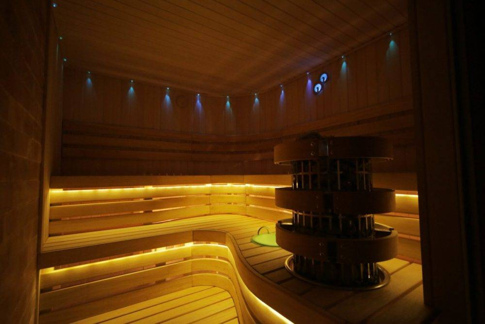 Оптоволоконное освещение для бани