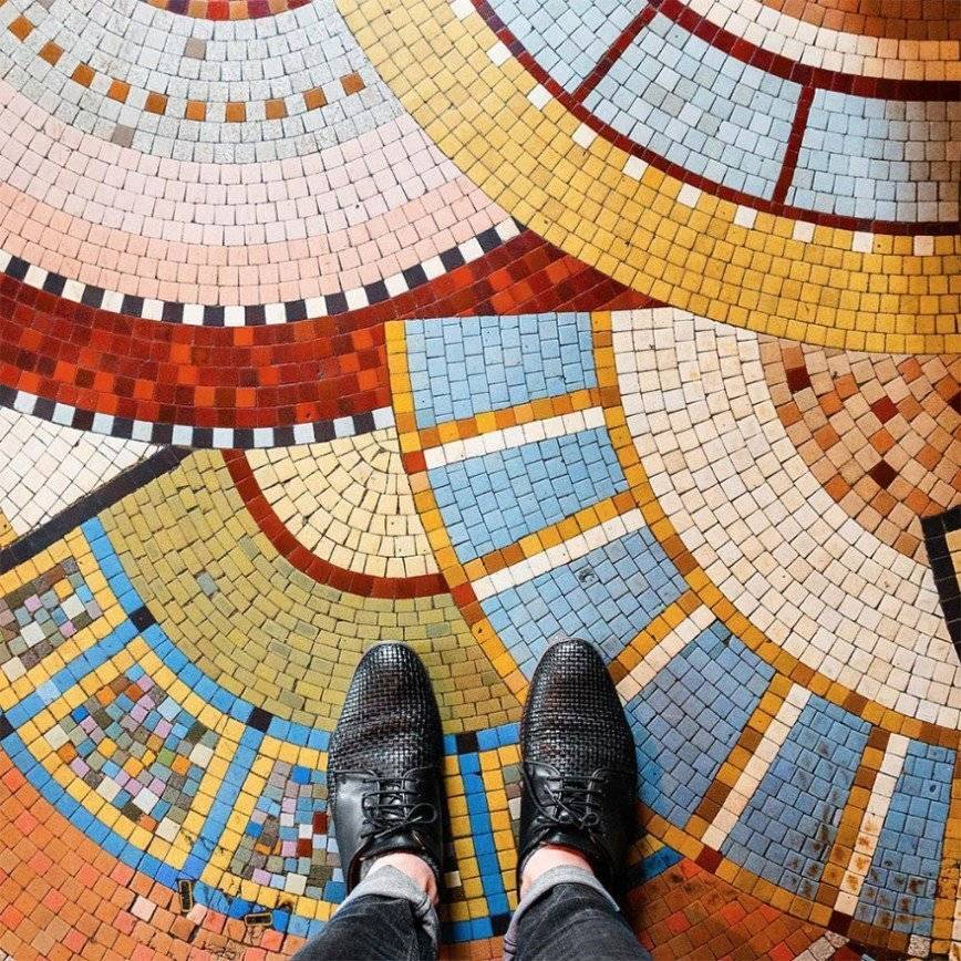 Мозаика на пол: виды и укладка   дом мечты
