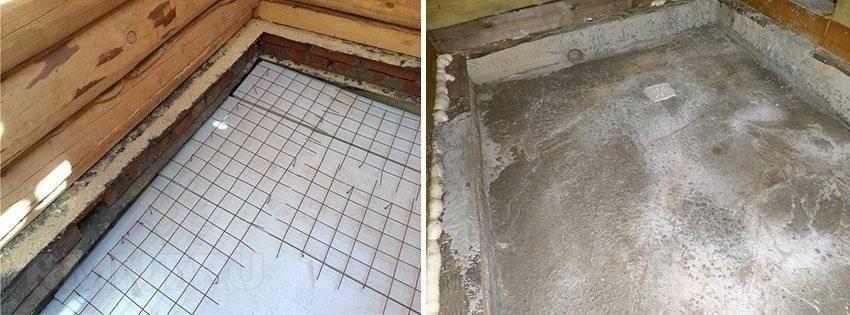 Как сделать бетонный пол в бане – подробная инструкция + видео