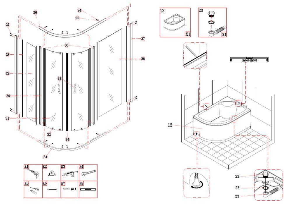 Сборка душевой кабины своими руками: поэтапная установка конструкций с видео инструкцией, полезные советы