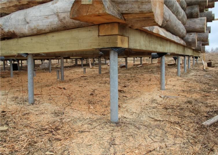 Свайный фундамент под баню: пошаговая инструкция