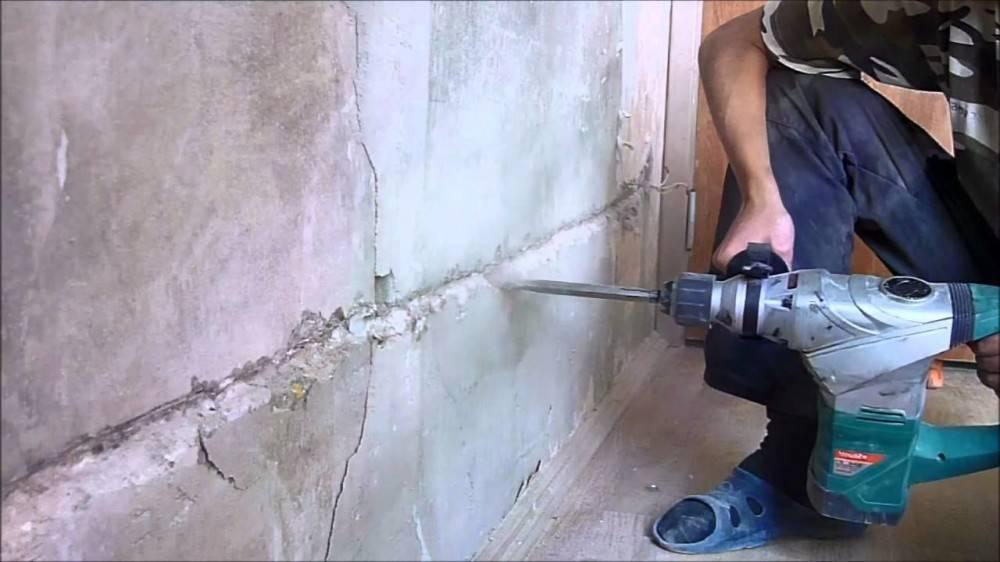 Основные советы по штроблению стен под проводку