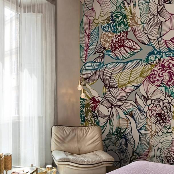 Панно из обоев в интерьере: оригинальные идеи украшения стен на фото