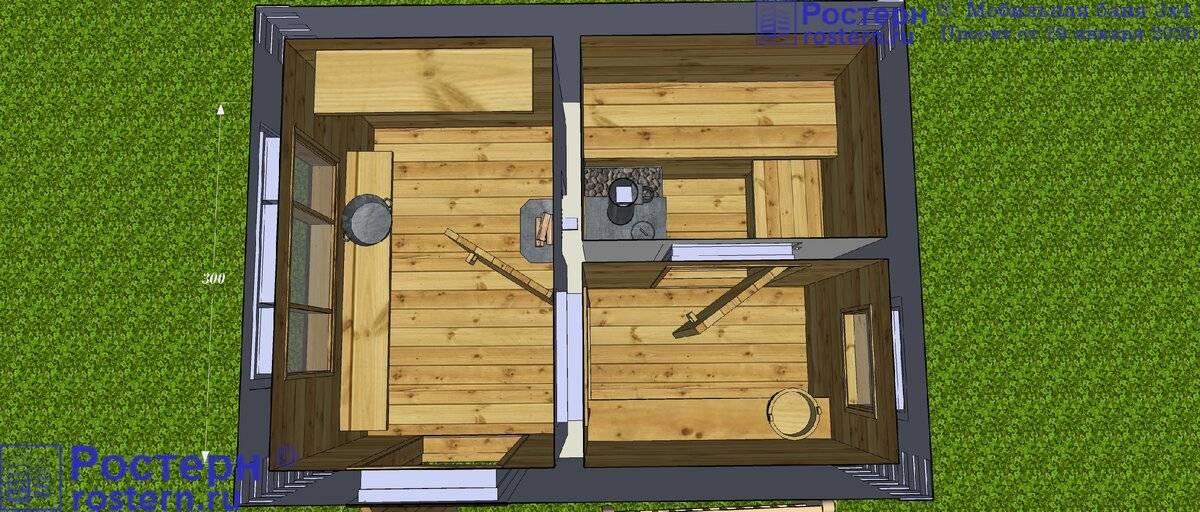 Как строится баня 3х3 своими руками: советы специалистов