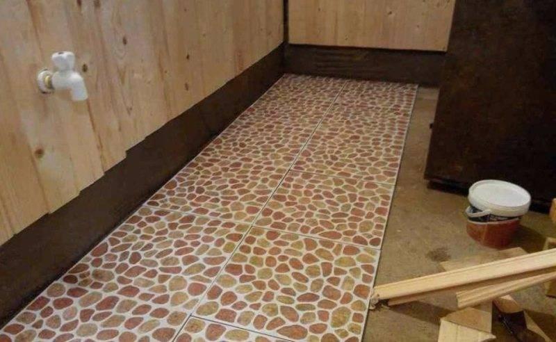 Как сделать пол в бане из плитки: выбор и укладка кафеля