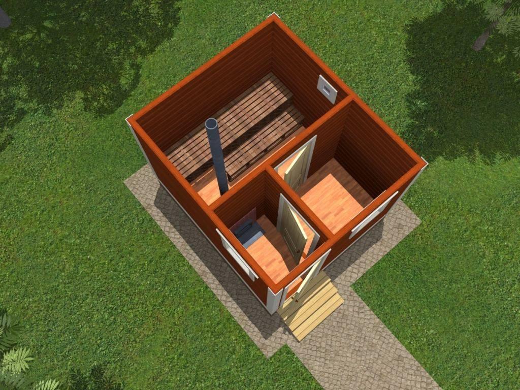 Баня 3 на 4: планировка внутри, проекты, фото
