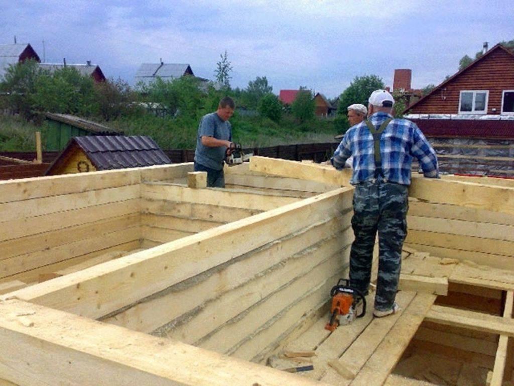 Поэтапное строительство бани из бруса своими руками: пошаговая инструкция