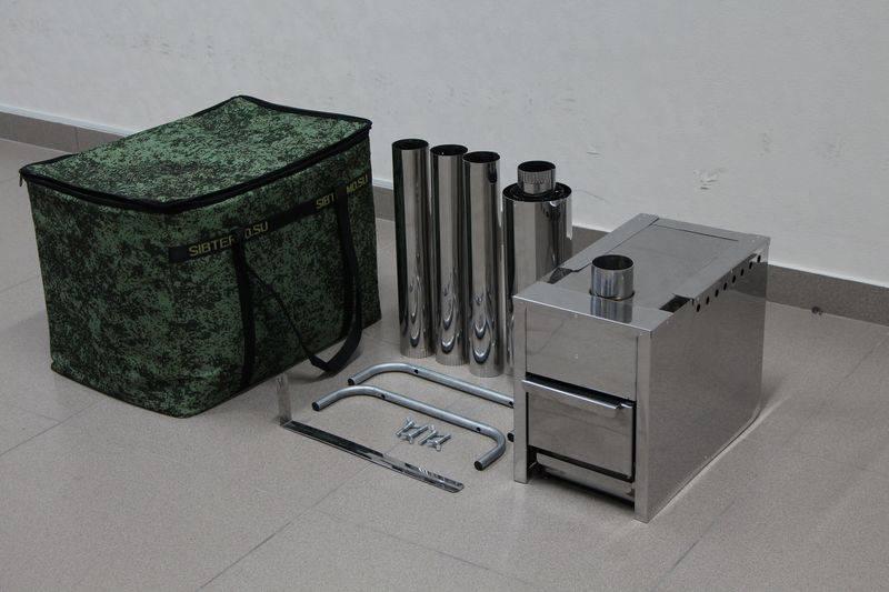 Печка для походной бани, или туристическая печка для парной