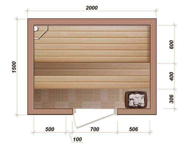 Высота полка в бане: оптимальные размеры