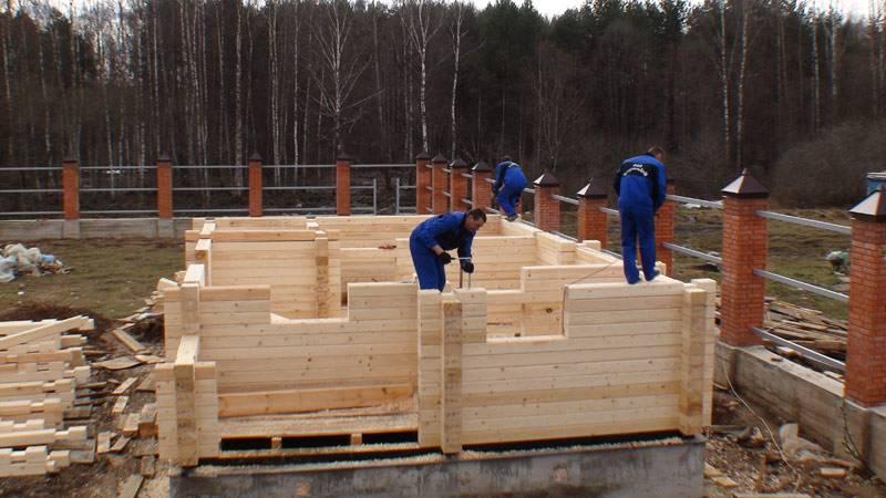 Баня из клееного бруса — преимущества материала и технология строительства своими руками