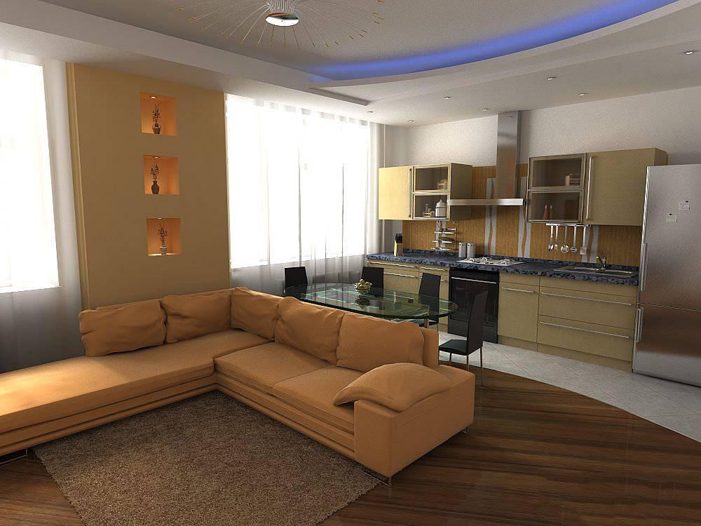 Объединение кухни с гостиной или комнатой в 2021. примеры и советы.